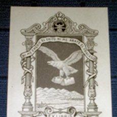 Arte: EX LIBRIS DE RICARDO ABAD PARA EL EDITOR MANUEL AGUILAR MUÑOZ - CRISOLIN CRISOL - AÑO 1957. Lote 221803252