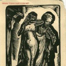 Arte: EX LIBRIS ERÓTICO XAM SOBRE 1940. Lote 27462859