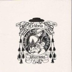 Arte: EX LIBRIS DE ALEXANDRE DE RIQUER PARA LA BIBLIOTECA EPISCOPAL DE VICH – 1902. Lote 25671020