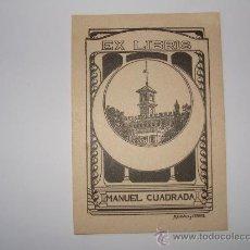 Arte: REUS EXLIBRIS DE MANUEL CUADRADA DIBUJO CHALET SERRA POR R. CASALS I VERNIS. Lote 12591364