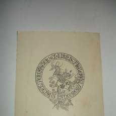 Arte: EX LIBRIS. Lote 16857414
