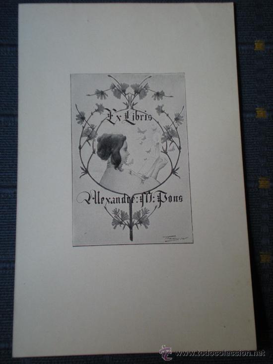 RIQUER EX LIBRIS PARA ALEXANDRE M. PONS EXLIBRIS (Arte - Ex Libris)