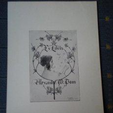 Arte: RIQUER EX LIBRIS PARA ALEXANDRE M. PONS EXLIBRIS. Lote 57494565