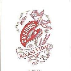 Arte: EX LIBRIS IGNASI VIDAL. Lote 32343776