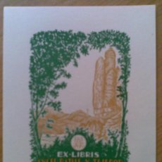 Arte: A21-EXLIBRIS ANTIGUOS MONSERRAT A PLOMA,MONSERRATINS,VEAN JOAN ANGLADA VILLÁ. Lote 19369565