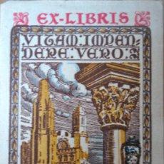 Arte: EX-LIBRIS DE J. PLA CARGOL. 6,5X4,5CM. Lote 26115105