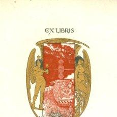 Arte: EX LIBRIS DE ALEXANDRE DE RIQUER PARA SU USO PERSONAL-1901. MODERNISMO. Lote 42950261