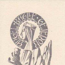 Arte: EX-LIBRIS DE ANGEL BATLLE Y TEJEDOR. 5X8. EX-LIBRIS. EX-LIBRIS. EXCELENTE EX - LIBRIS DE ANGEL BATLL. Lote 26521441