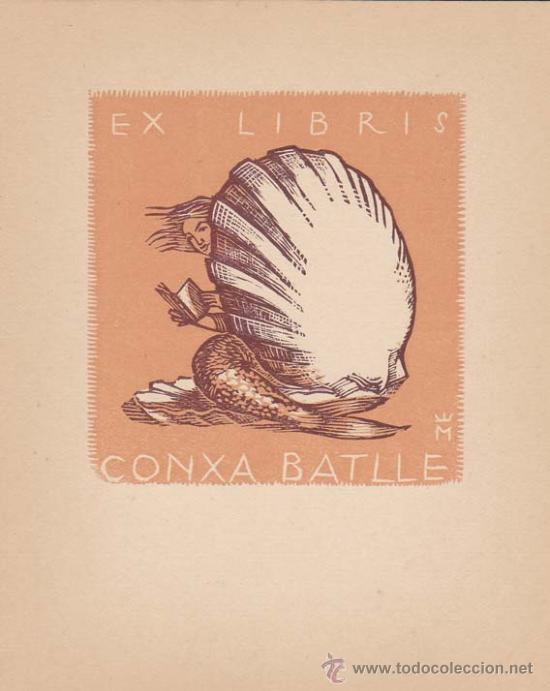 EX-LIBRIS DE CONXA BATLLE. 10X12. EX-LIBRIS. EX-LIBRIS. EXCELENTE EX - LIBRIS DE CONXA BATLLE/ TC/ A (Arte - Ex Libris)
