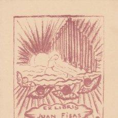 Arte: EX-LIBRIS DE JUAN FISAS. 12X15. EX-LIBRIS. EX-LIBRIS. EXCELENTE EX - LIBRIS DE JUAN FISAS/ TC/ A. Lote 26547645
