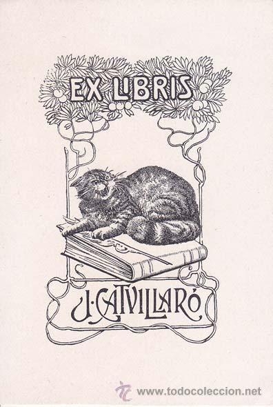 EX-LIBRIS DE J. CATVILLARÓ. 7X10. EX-LIBRIS. EX-LIBRIS. EXCELENTE EX - LIBRIS DE J. CATVILLARÓ/ TC/ (Arte - Ex Libris)