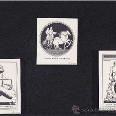 Art: 3 EX-LIBRIS DE: IRENE DWEN ANDREWS. VARIAS MEDIDAS. EX-LIBRIS. EX-LIBRIS. EXCELENTE 3 EX-LIBRIS DE: . Lote 26843140