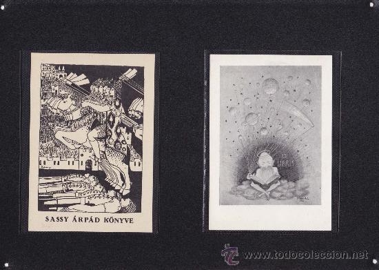 2 EX-LIBRIS DE: SASSY ARPAD KONYVE Y KIRKOVITS L. 9.5X14 / 9.5X13.5. EX-LIBRIS. EX-LIBRIS. EXCELENTE (Arte - Ex Libris)