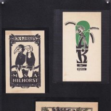 Arte: 3 EX-LIBRIS DE: M.S.A. HILHORST, A.K. Y OTRO. VARIAS MEDIDAS. EX-LIBRIS. EX-LIBRIS. EXCELENTE 3 EX-L. Lote 26885336