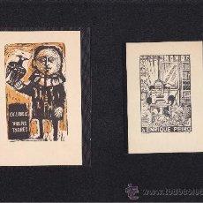 Arte: 2 EX-LIBRIS DE: VICENS TARRES Y ENRIQUE PEIRO. 9X14 / 8X11.5. EX-LIBRIS. EX-LIBRIS. EXCELENTE 2 EX-L. Lote 26885381
