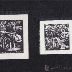 Arte: 2 EX-LIBRIS DE: CSEH LAJOS KONYVE Y DR. LUSZTIC ISTVAN KONYVE. 10X13 / 10X10. EX-LIBRIS. EX-LIBRIS.. Lote 26887321