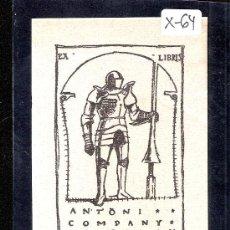 Arte: EX- LIBRIS - ANTONI COMPANY - (X-64). Lote 27905205