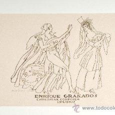 Arte: EX-LIBRIS, ENRIQUE GRANADOS, CATALONIAN COMPOSER - SEÑOR ISMAEL SMITH. Lote 28873624