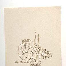 Arte: EX-LIBRIS, MR ARMAND SCHMOLL JR - SEÑOR ISMAEL SMITH. Lote 28873636