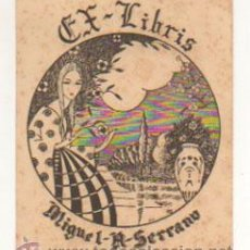Arte: EXLIBRIS. EX-LIBRIS. MIGUEL A. SERRANO. ZARAGOZA. (9 X 7,5 CM.) 1946. . Lote 29164284