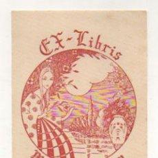 Arte: EXLIBRIS. EX-LIBRIS. MIGUEL A. SERRANO. ZARAGOZA. (11 X 8 CM.) 1946. . Lote 29164309