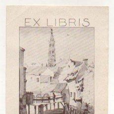 Arte: EXLIBRIS. EX-LIBRIS. T'SAS VAN BRUSSEL. (14 X 10,5 CM.) 1944. . Lote 29164358