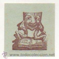 Arte: EXLIBRIS. EX-LIBRIS. JOAN CASULA. (7,5 X 7 CM.) JORDI FARJAS, OLOT. FECIT 1950. . Lote 29164420