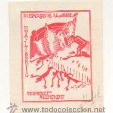 Arte: EXLIBRIS. EX-LIBRIS. DR. ENRIQUE LLOBET. REGRESCIT MEDENDO. (8,5 X 7 CM.) VELILLA DE EBRO. 1946. . Lote 29201418