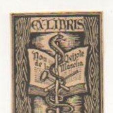 Arte: EXLIBRIS. EX-LIBRIS. EMILIO MATORRAS. DON QUIJOTE DE LA MANCHA. (6,5 X 5 CM.). Lote 29201515