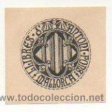Arte: EXLIBRIS. EX-LIBRIS. LLIBRES D'ANTONI PONS. MALLORCA. (5,5 X 5,5 CM.). Lote 29201538