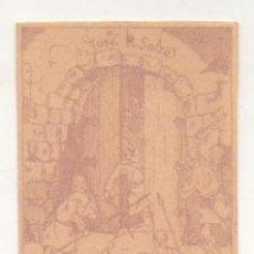Arte: EXLIBRIS. EX-LIBRIS. JOSE R. SALSA. TOMADA DE LISBOA. (10 X 7 CM.) . Lote 29203077