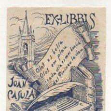 Arte: EXLIBRIS. EX-LIBRIS. JOAN CASULA. OLOT. (14 X 11 CM.). Lote 29203593