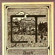 Arte: EX-LIBRIS BUCH VON EMMY THATER WEIHERHAUS (PEGADO A UNA CARTULINA). Lote 29600619