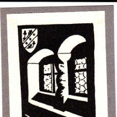 Arte: EX-LIBRIS HANNS WALTHER WALDERSTOTTEN (PEGADO A UNA CARTULINA). Lote 29603006