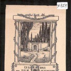 Arte: EX LIBRIS - JULIE WEIGMANN - MED. 10 X 15 CM. - (X-324). Lote 30030156