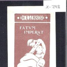 Arte: EX LIBRIS - VICENTE MARTINEZ BOSCH - (X-298). Lote 30407254