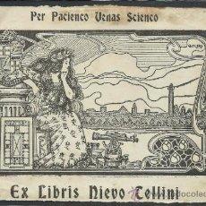 Arte: EX LIBRIS - NIEVO TELLINI - (X-388). Lote 30725109