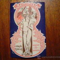 Arte: EX-LIBRIS MODERNISTA - 1904 - NICOLAS MIRALLES - BARCELONA - PRECIOSO - LITOGRAFIA MIRALLES. Lote 30726513