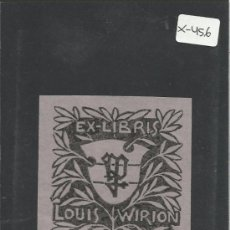 Arte: EX LIBRIS - LOUIS WIRION - (X-456). Lote 30773069