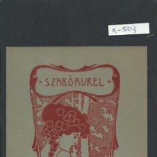 Arte: EX LIBRIS - SZAB O - AUREL - (X-503). Lote 31854097