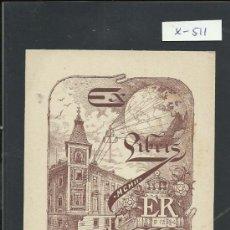 Arte: EX LIBRIS - ER - (X-511). Lote 31854370