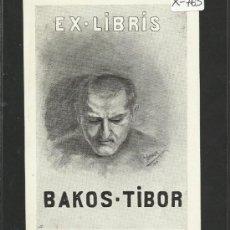 Arte: EX-LIBRIS - BAKOS TIBOR - (X-763). Lote 33407135