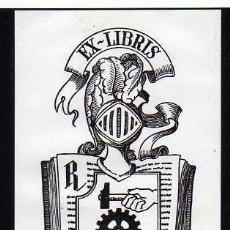 Arte: EXLIBRIS DE A.RADEMAKERS - ESCUDO - LIBRO - HERRAMIENTAS . Lote 33451768