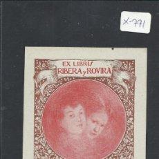 Arte: EX-LIBRIS - RIBERA Y ROVIRA - (X-771). Lote 34408877