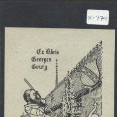 Arte: EX-LIBRIS - GEORGES GOURY - (X-779). Lote 34409699