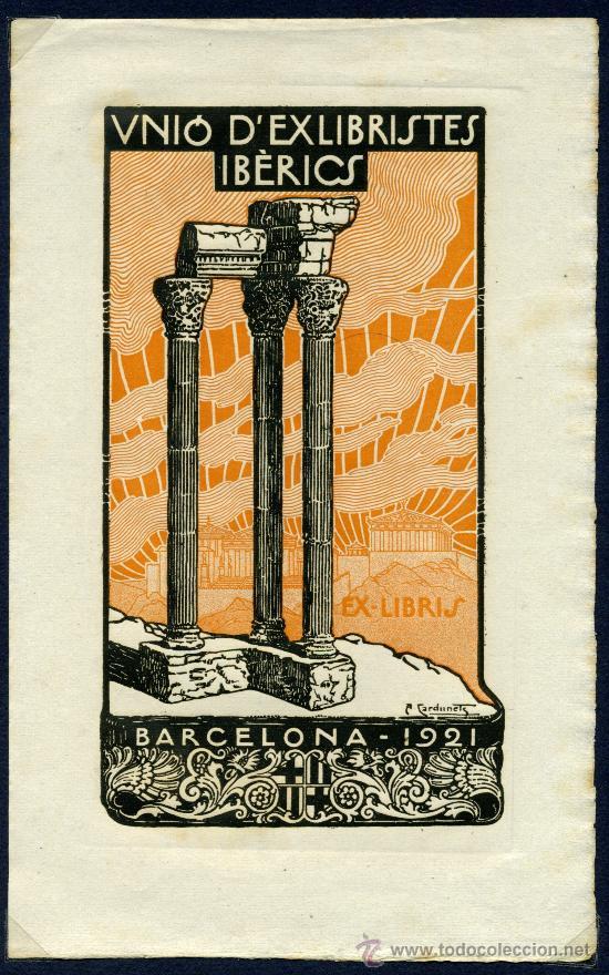 EX LIBRIS - BARCELONA 1921 (Arte - Ex Libris)