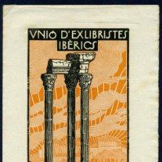 Arte: EX LIBRIS - BARCELONA 1921. Lote 34529683