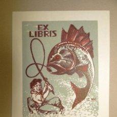 Arte: INTERESANTE EX LIBRIS - GEORG RUSI - G. MOOTSE, CIRCA 1950. Lote 34665225