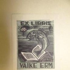 Arte: EX LIBRIS - VAIKE ERM - FISCH, G. MOOTSE, CIRCA 1950. Lote 34665290