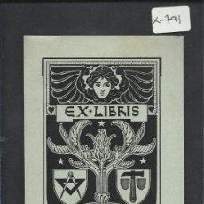 Arte: EX LIBRIS - CARL WOLBRANDT - (X-791). Lote 35643966